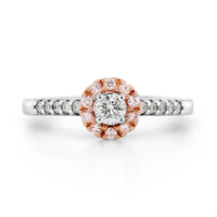 18ct White & Rose Gold Pink Diamond Ring image