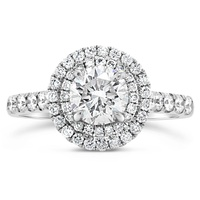 18ct White Gold Double Halo Diamond Engagement Ring image