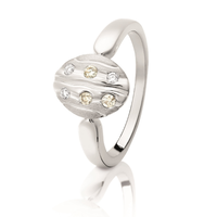 Dreamtime White Gold & Diamond Set River Ring image