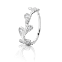 Dreamtime White Gold Diamond Set Vine Ring image
