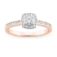 9ct Rose Gold Diamond Dress Ring image