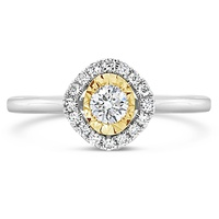 9ct White & Yellow Gold Miraculous Diamond Ring image