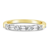 18ct Two Tone Claw Set Diamond Wedder image