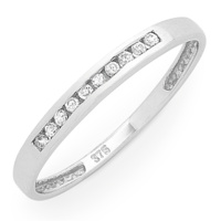9ct White Gold Diamond RIng image