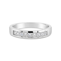 18Ct White Gold Channel Set Princess Cut Diamond Wedder image