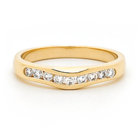 18ct Yellow Gold Diamond Wedding Ring image