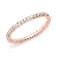 9ct Rose Gold Diamond Set Wedder image