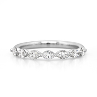 18ct White Gold Marquise Diamond Ring image