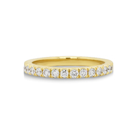 18ct Yellow Gold Diamond Set Wedding Ring image