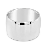 9Ct White Gold 12mm Barrel Wedding Ring image