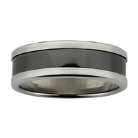 ZIRO Titanium & Black Zirconium Wedding Ring image