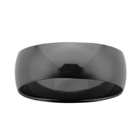 ZIRO Black Zirconium Polished Ring image