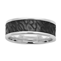 Sterling Silver & Black Zirconium Wedder image
