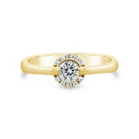 9ct Yellow Gold CZ Halo Ring image