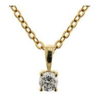 18ct Yellow Gold 0.50ct Diamond Pendant image