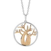 Dreamtime 9ct 2 Tone Diamond Set Tree Of Life Pendant image