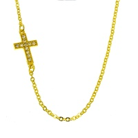 9ct Yellow Gold Cross Necklace image
