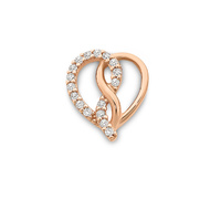 9ct Rose Gold Heart Infinity Cubic Zirconia Set Pendant image