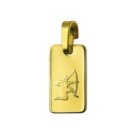 9ct Yellow Gold Rectangular Zodiac Pendant Sagittarius image