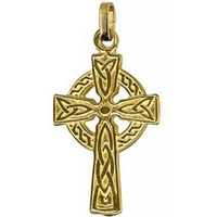 9ct Yellow Gold Celtic Cross image