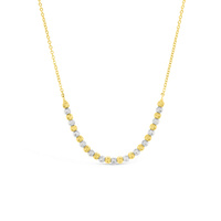 Yellow & White Gold Ball Necklace image