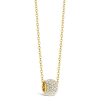 9ct Yellow Gold Cz Slider Necklace image