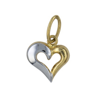 9ct Two Tone Open Heart Charm image