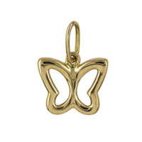 9ct Yellow Gold Open Butterfly Charm image