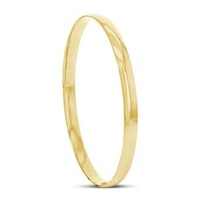 9ct Yellow Gold Half Round Solid Bangle image