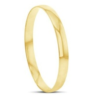 9ct Yellow Gold Solid Half Round Bangle image