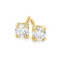 18ct Yellow Gold 1.00ct Claw Set Diamond Studs image
