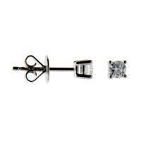 9ct White Gold 0.12ct Diamond Earrings image