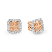 Dreamtime Rose & White Gold Diamond Set Earrings image