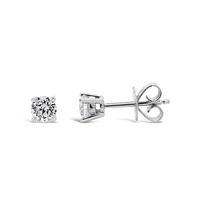 9ct White Gold 0.14ct Diamond Stud Earrings image