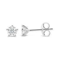 9ct White Gold 5 Claw 0.60ct Diamond Studs image