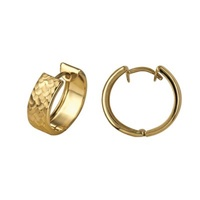 9ct Yellow Gold 5mm Polished And Faceted Huggies image