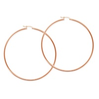 9ct Rose Gold Extra Large Hoop Earrings image