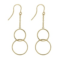 9ct Yellow Gold Double Circle Hook Earrings image