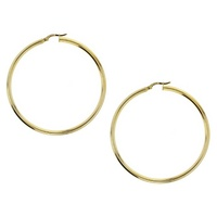 9ct Yellow Gold Filled 50mm Hoops image