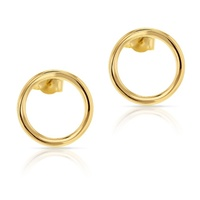 9ct Yellow Gold Open Circle Studs image
