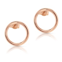 9ct Rose Gold Open Circle Studs image