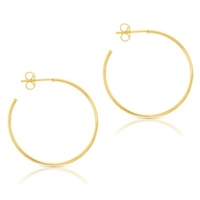 9ct Yellow Gold Flat Stud Hoops image