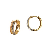 9ct Three Tone Huggie Earrings image