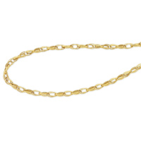 9ct Yellow Gold Silver Filled Double Curb Chain image