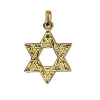 9ct Yellow Gold Star Of David Charm image