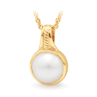 9Ct Yellow Gold Mabe Pearl Pendant image