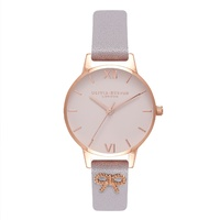 Olivia Burton Grey Lilac Vintage Bow Watch image