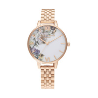 Olivia Burton Rose Gold Enchanted Garden Demi Watch image