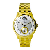 Adina Mens Gold Plated Stainless Steel Oceaneer Vintage Sport Watch image