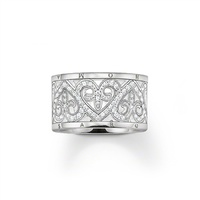 Thomas Sabo Wide Cubic Zirconia Heart Ring image